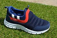 Детские кроссовки Адидас синие сетка 31-35, копия, фото 1