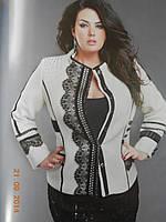 Шикарный пиджак с кружевами