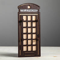 Ключница Telephone (плоская, коричневая)
