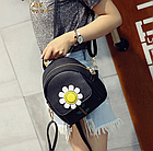 Рюкзак женский мини с ромашкой, фото 5