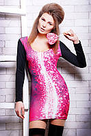 Платье женское облегающее по фигуре, платье розового цвета, фото 1