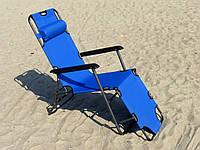Шезлонг складной для пляжа или дачи (3 положения, габариты 178х60 см, max. нагрузка 100 кг) (крісло-шезлонг)