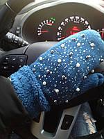 Женские модные варежки на зиму, фото 1