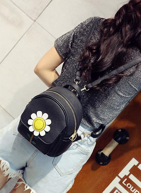 рюкзак мини чёрный
