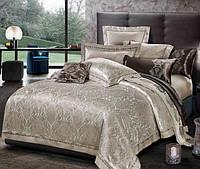 Жаккардовое постельное белье семейное  Bella Villa J-0021 Fm