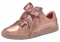 Кеды Basket Heart Copper Wn's (оригинал) женские Puma цвет перламутрово-розовый размер 38,5 39 арт 36546301, фото 1