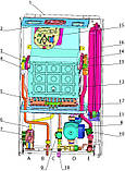 Двоконтурний газовий котел Rocterm TSU 20-B (20 кВт). Труба в комплекті, фото 2