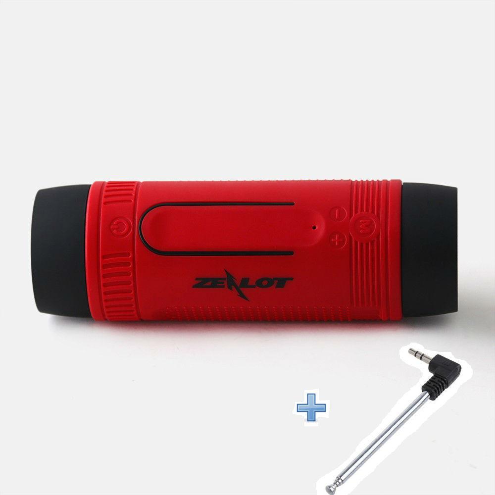 Вело фонарик с беспроводной Bluetooth колонкой ZEALOTS1 с плеером + телескопическая FM антенна