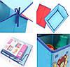 Складной короб Домик - органайзер для хранения игрушек Голубой, фото 3