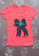 Детская футболка Бант на девочку 3-4 лет