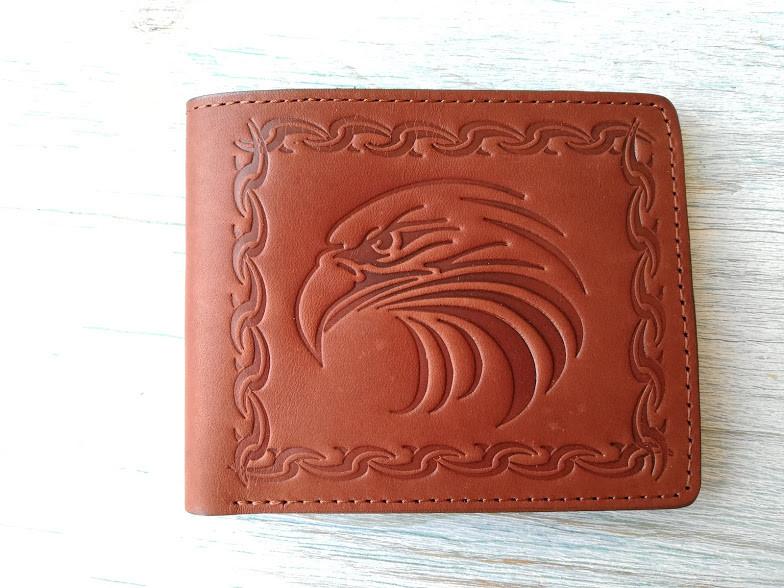 Портмоне мужской коричневый орел