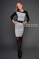 Платье в клетку черный/белый, фото 1