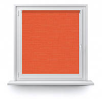 Рулонные шторы Лен 2095 яркий оранжевый 475х1700