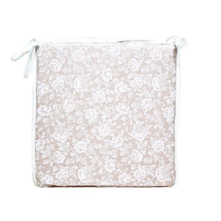 """Подушка на стул """"White rose"""" 40х40см"""