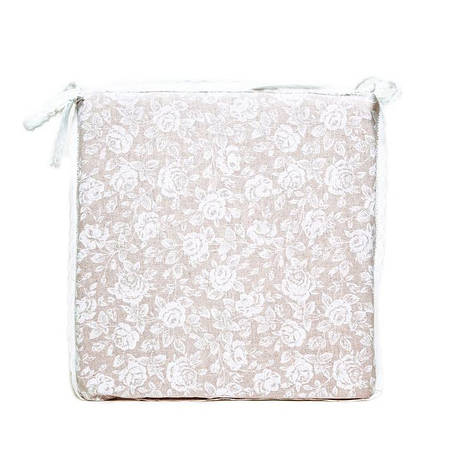 """Подушка на стул """"White rose"""" 40х40см, фото 2"""