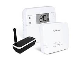 Интернет-термостат SALUS RT310i с возможностью программирования через мобильное приложение (в комплект входит: беспроводный термостат и шлюз для