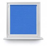 Тканевые ролеты с тканью Лен 874 синий