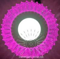 """LED светильник 3+3W """"Луна"""" с розовой подсветкой / LM 1011 круг, фото 1"""