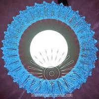 """LED светильник 3+3W """"Луна"""" с синей подсветкой / LM 1011 круг, фото 1"""