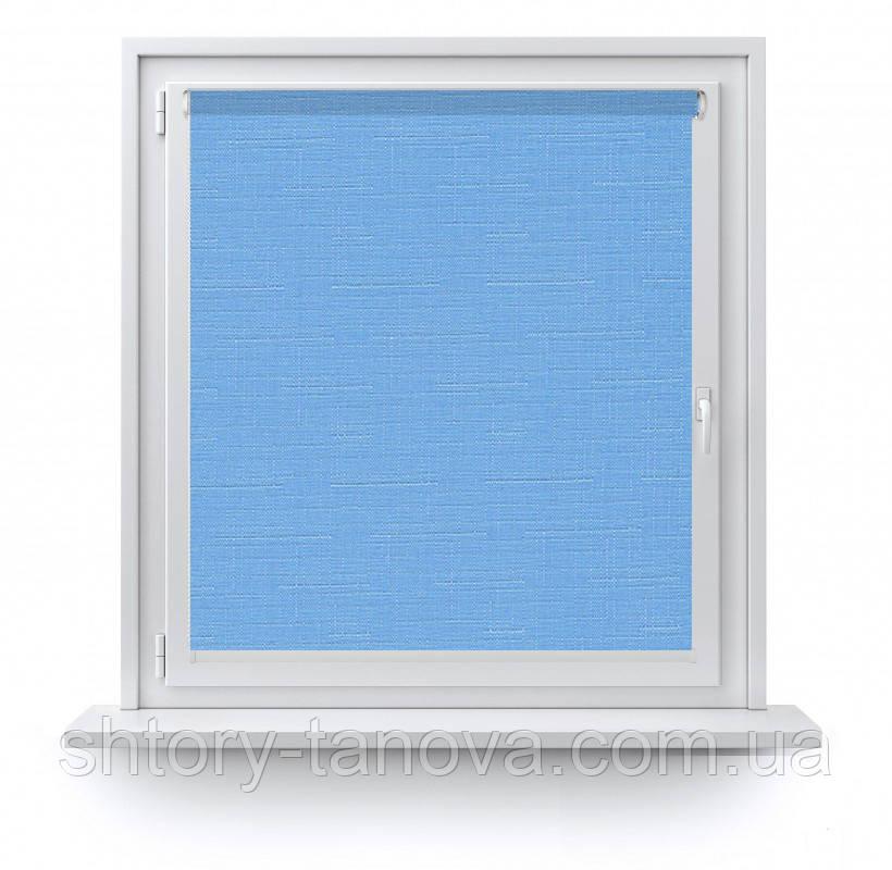 Штори рулонні Льон 2074 блакитний