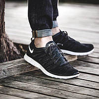 Мужские кроссовки Nike Free Flyknit NSW Black/Black (Реплика)