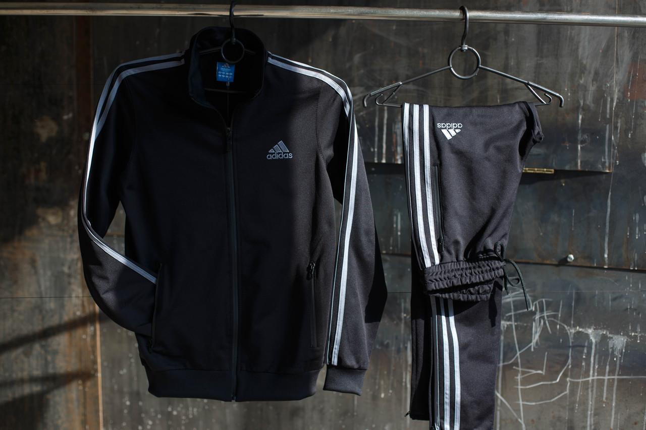 Мужской спортивный костюм Adidas.Белый/Черный.KD-1503