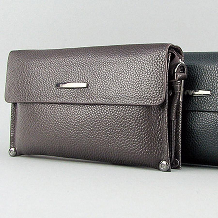774270efa522 Клатч мужской кожаный мягкий коричневый Armani (копия ) 3410-2 - интернет- магазин