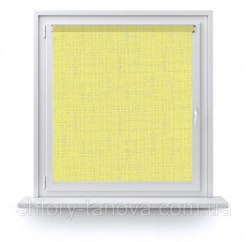 Рулонные шторы Лен 2072 желтый