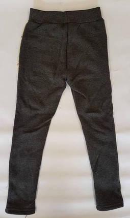 Лосины на меху вставка паетки 8-16 лет серый, фото 2