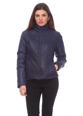 Модная синяя женская куртка
