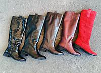 Женские сапоги Пика высокие без каблука, фото 1