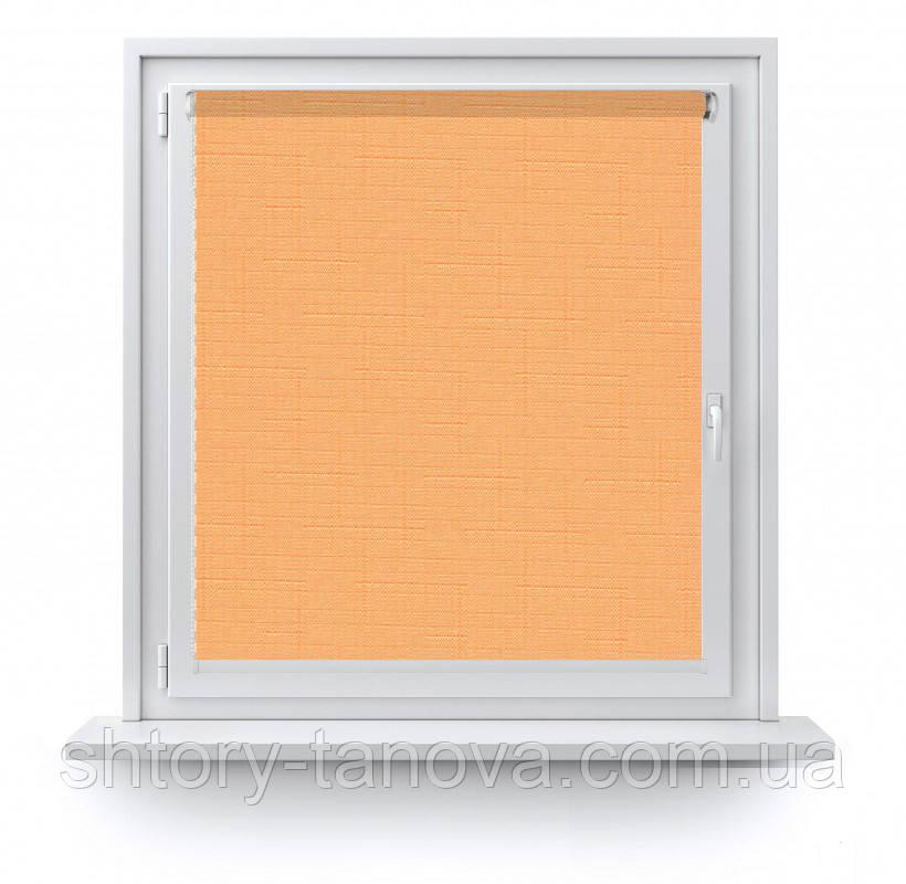 Тканинні ролети Льон 2071 персиково-помаранчевий