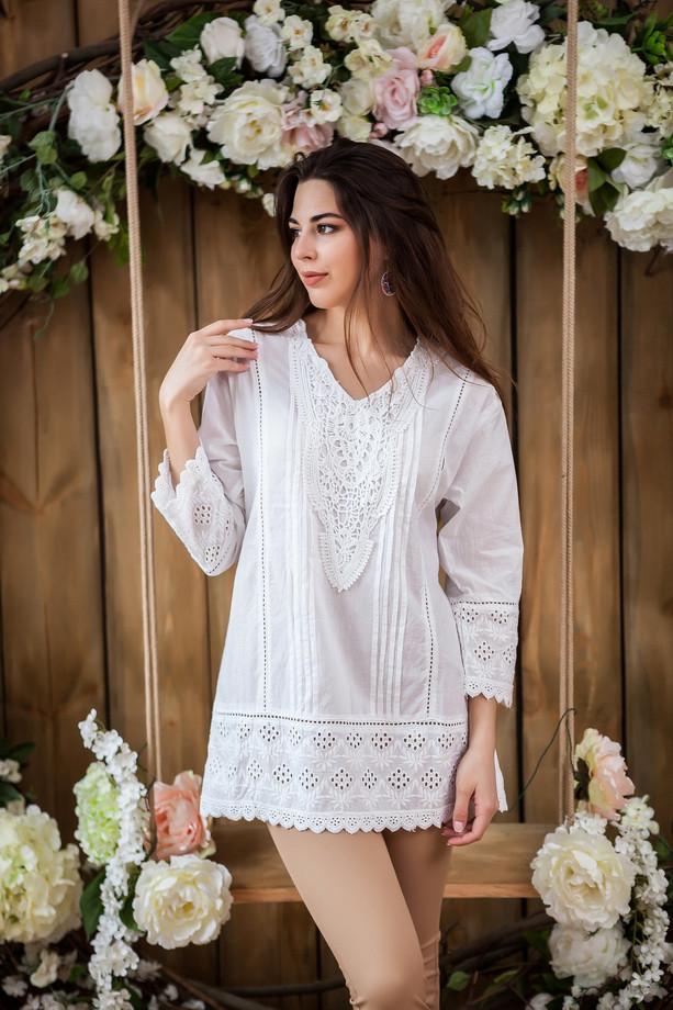 Белая льняная удлиленная блуза-туника, летняя, Л,ХЛ,ХХЛ