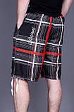Чоловічі бриджі в клітинку (плащівка), чорного кольору, фото 3