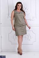 Льняное платье с пайеткой, фото 1