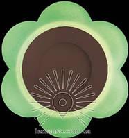 """LED світильник 3+3W """"Молочна ромашка"""" з зеленою підсвіткою / LM 908 коло, фото 1"""