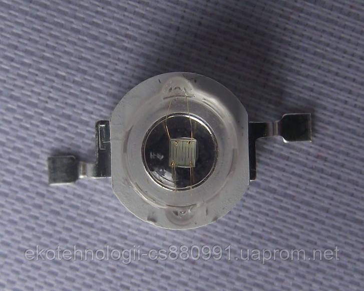 Мощный светодиод ультрофиолетовый  395-400 NM 3W UV 80-90 LM - Интернет магазин Екотехнологии в Броварах