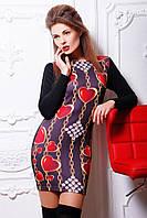 Платье яркое облегающее, платье цветное молодежное дайвинг, фото 1