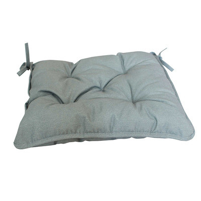Серая подушка на стул 40х40см