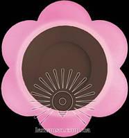 "LED светильник 3+3W ""Молочная ромашка"" с розовой подсветкой / LM 908 круг, фото 1"