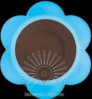 """LED светильник 3+3W """"Молочная ромашка"""" с синей подсветкой / LM 908 круг, фото 1"""