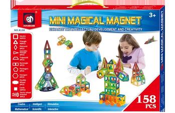 Магнитный конструктор Mini magical magnet 158 дет.