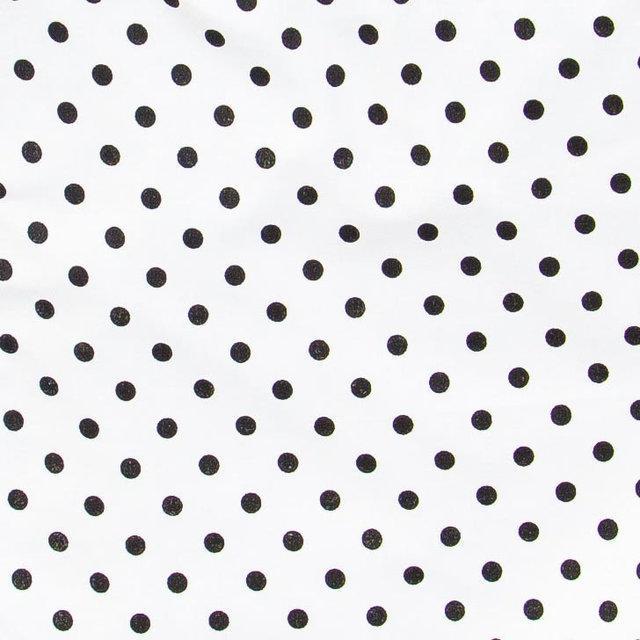 Простынь белая в горошек на резинке в коляску от ТМ BabySoon из хлопка размером 80х40 см
