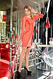 Сукня облягає коралове красиве нарядне, плаття з рюшами, фото 2