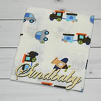 Муслиновые пеленки для новорожденных 80х100 - 05