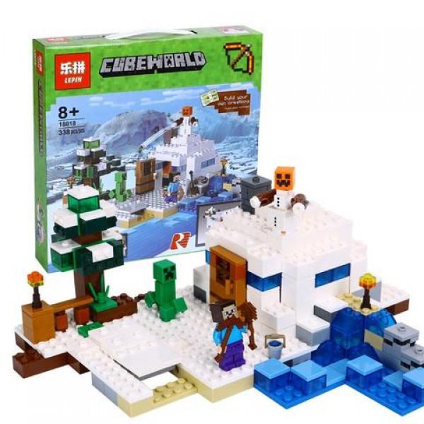 Конструктор Minecraft LEPIN 18018 аналог LEGO 21120 Сніжне укриття 338 деталі