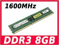 Оперативная память DDR3 8GB Kingston 1600 МГц PC3-12800 AMD, ( оперативка модуль памяти ДДР3 8 1600 MHz )