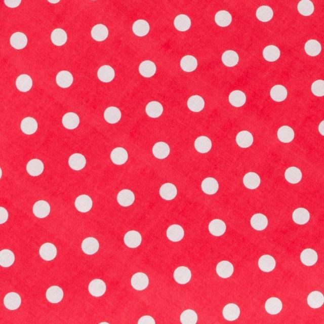 Простынь на резинке красная в горох в коляску от производителя BabySoon материал хлопок размер 80х40 см