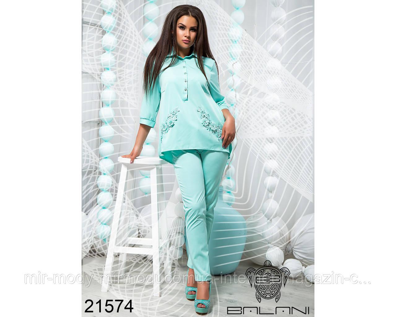 Шикарный брючный костюм - 21574 с  48 по 54 размер