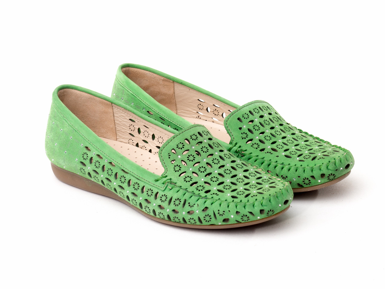 Мокасины BERTAN 2618-3010-4448 36 зеленые